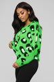 Let's Get Wild Sweater - Neon Green