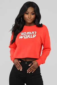Woman's World Sweatshirt - Red