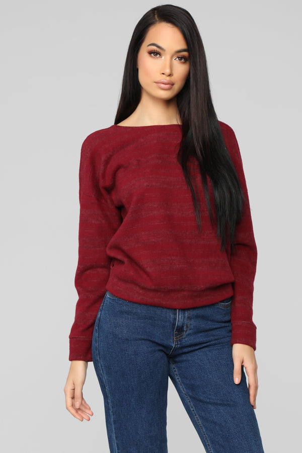 2195fd9a3950e Story Of My Life Top - Burgundy
