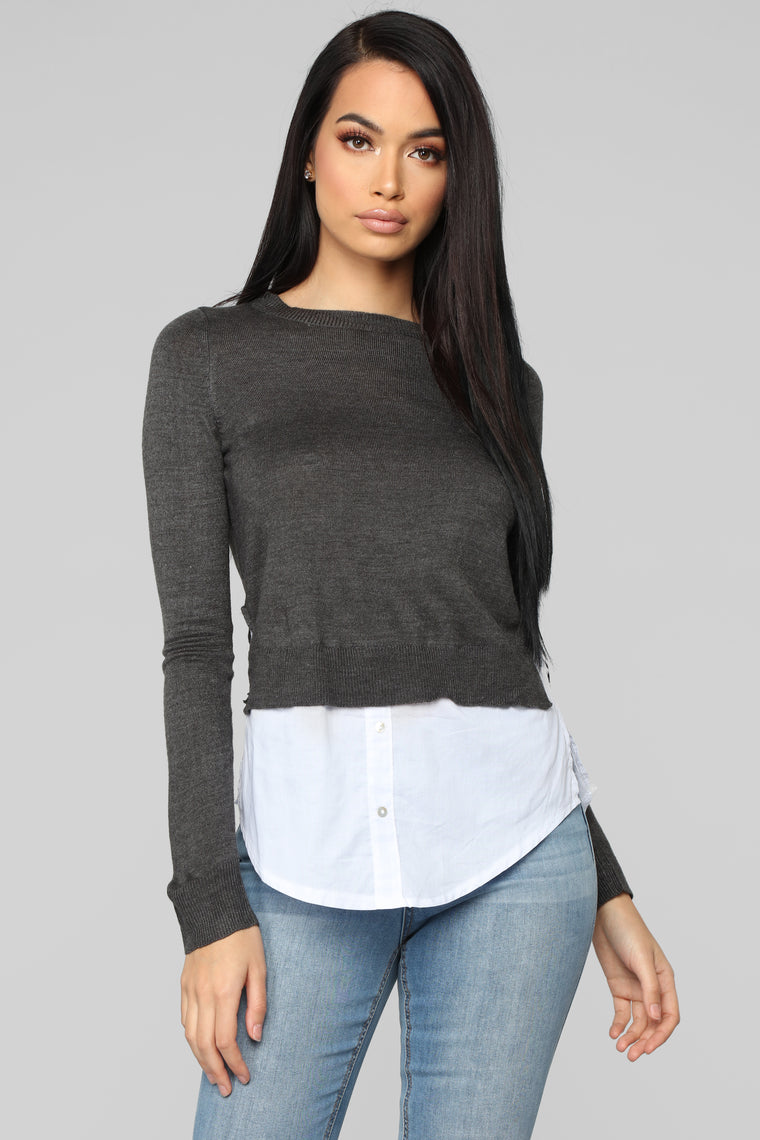 Feel The Real Sweater - Charcoal