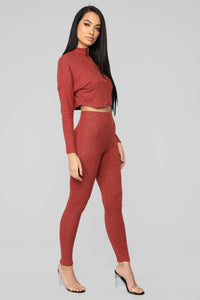 Our Play Date Pant Set - Marsala