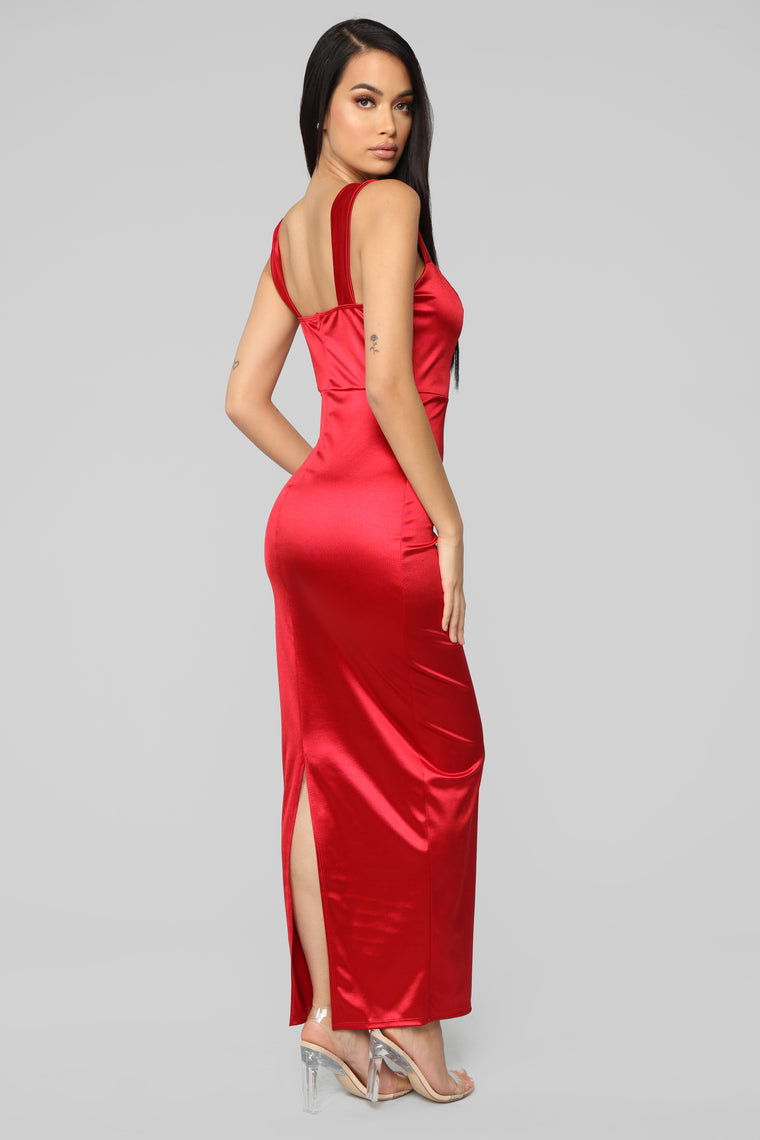 Close Up Ready Dress - Red
