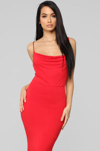 Leavin' You Lost For Words Dress - Red