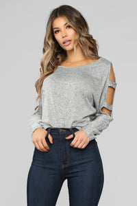 New Life Top - HeatherGrey