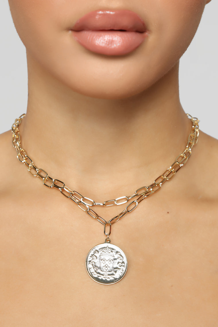 Getting That Coin Necklace - Gold