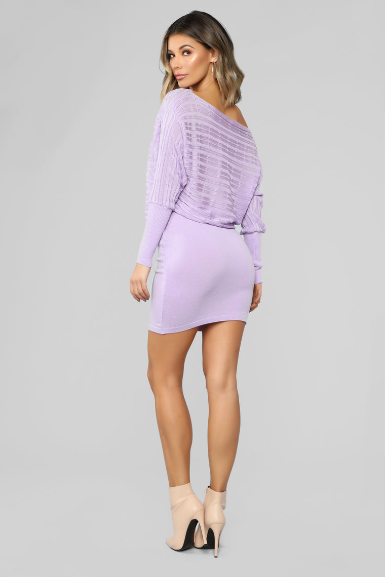 So Many Reasons To Love Sweater Dress - Lilac
