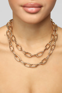 Lauren Chunky Chain Necklace - Gold