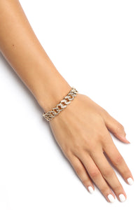 Icy Chain Link Bracelet - Gold