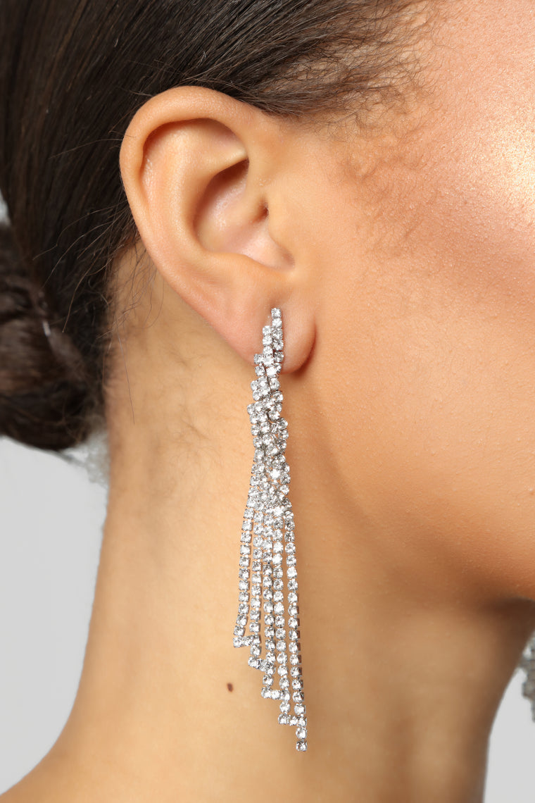 Twist It Up Earrings - Silver