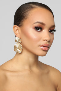 Texture Back Earrings - Gold Angle 1