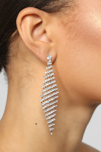 Diamonds In The Sky Earrings - Silver