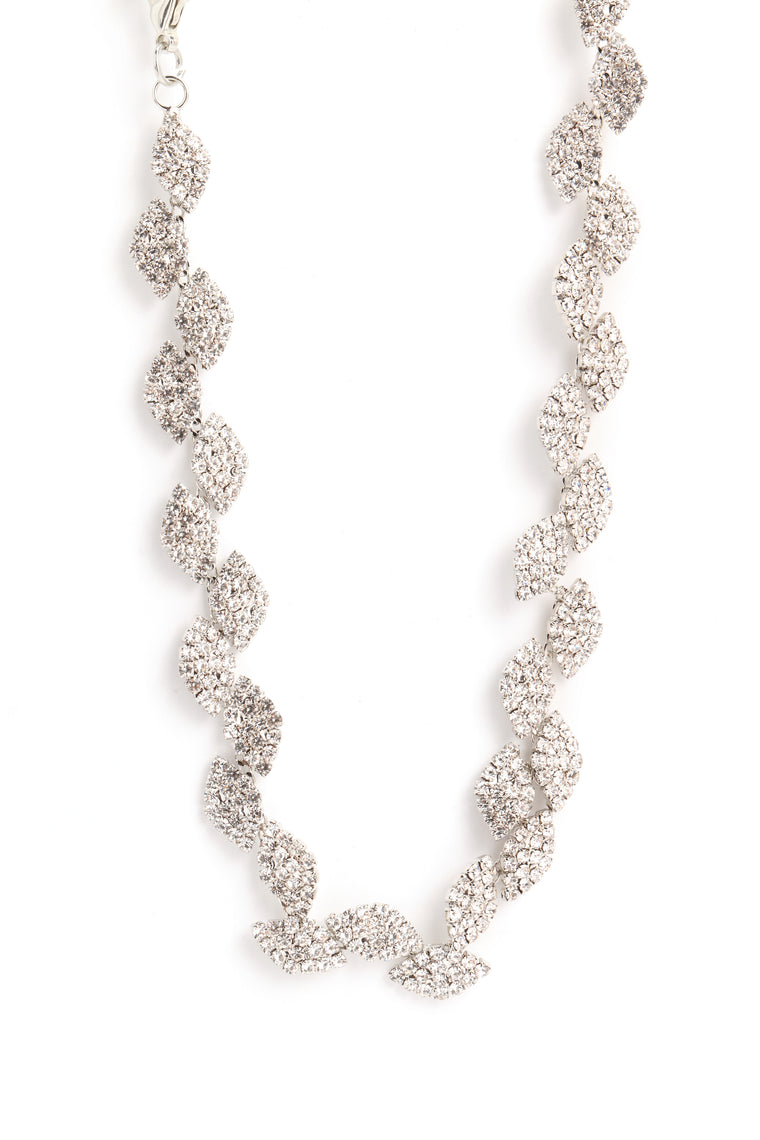 House Of Diamonds Necklace - Silver