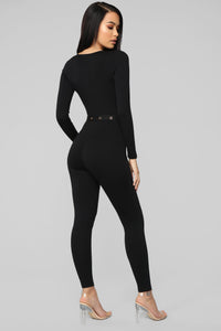 Going Back Home Jumpsuit - Black