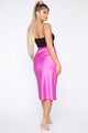 Messing With My Heart Midi Skirt - Magenta