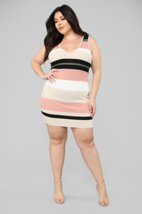 Ice Cream Conversations Sweater Dress - Pink/Multi