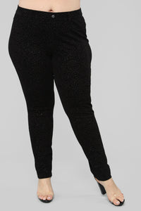 Shine All Day Legging - Black Angle 2