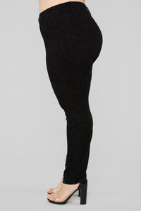 Shine All Day Legging - Black Angle 4