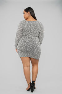 Cozy Night Out Sweater Mini Dress - Black