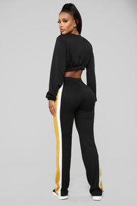 Take A Minute Colorblock Set - Black/Combo