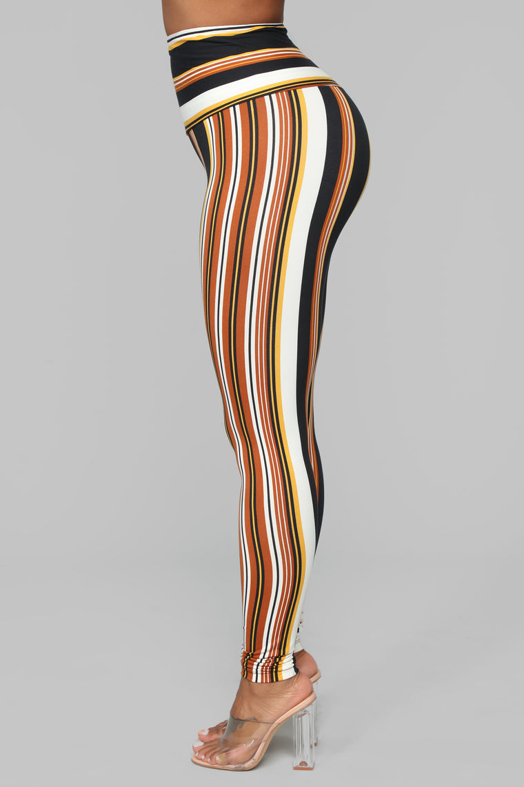 Stripe It Away Leggings - Multi