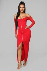 Morticia Dress - Red