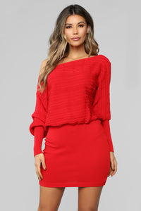 So Many Reasons To Love Sweater Dress - Red