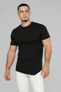 Chris Asymmetrical Tee - Black