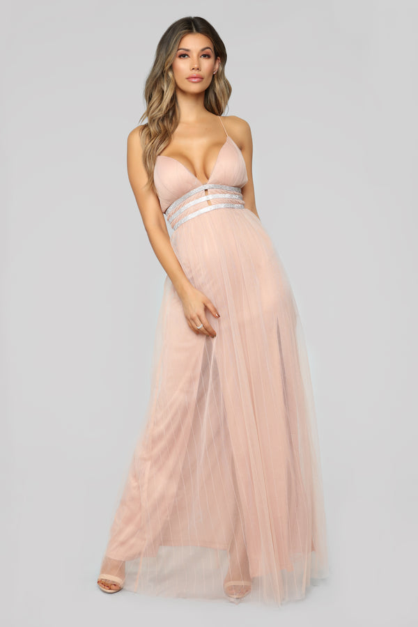 add6ab172bed Falling Into You Tulle Dress - Nude