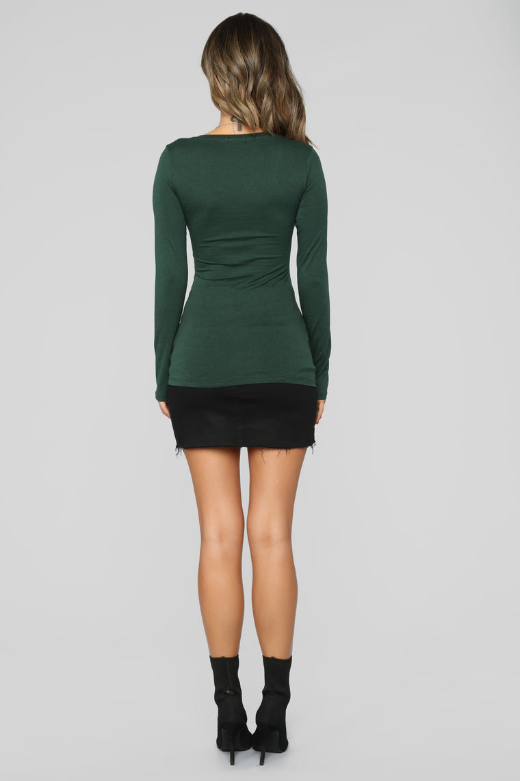 Your Everyday Long Sleeve Top - Pine Tree