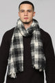 Karl Plaid Scarf - Black/White