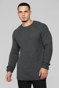 Oren Crewneck Sweater - Heather Grey