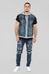 Harringford Denim Vest - Dark Wash