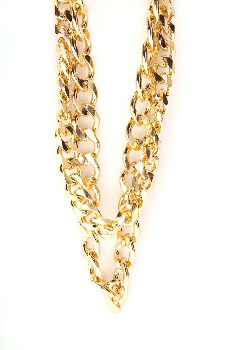 Old School Chunky Necklace - Gold