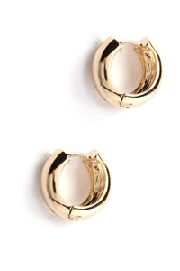 Little Baby Hoop Earrings - Gold