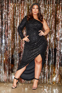 And The Winner Is Sequin Maxi Dress - Black Angle 2