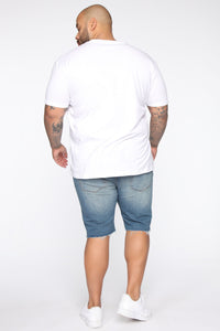 Earl Denim Shorts - Vintage Blue Wash Angle 13