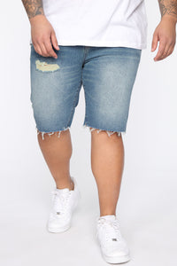 Earl Denim Shorts - Vintage Blue Wash Angle 8