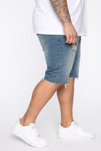 Earl Denim Shorts - Vintage Blue Wash Angle 10
