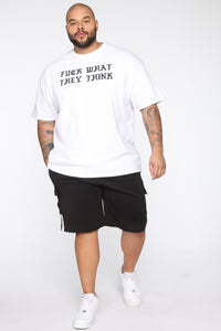 Post Cargo Short - Black/White Angle 7