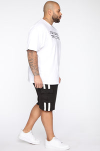 Post Cargo Short - Black/White Angle 9