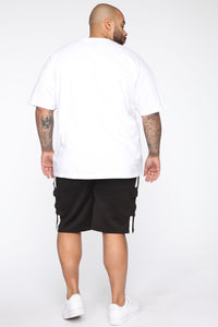 Post Cargo Short - Black/White Angle 11