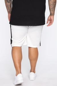 Retro Track Short - White/Black Angle 11