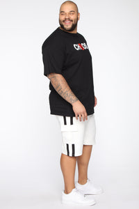 Post Cargo Short - White/Black Angle 10