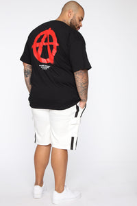 Post Cargo Short - White/Black Angle 12