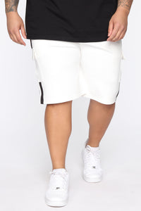 Post Cargo Short - White/Black Angle 7