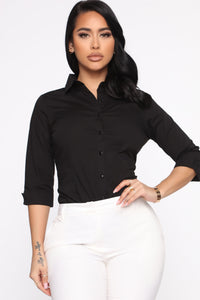 The One And Only Button Down Shirt - Black Angle 1