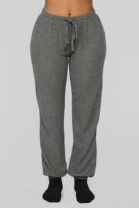 Coffee And Online Shopping 2 Piece PJ Set - Charcoal