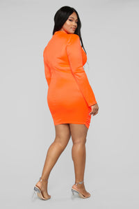 Be Knotty Mini Dress - Neon Orange Angle 8