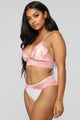 Whatever You Wish Lace 2 Piece Set - Pink