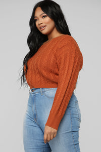 Let You Love Me Sweater - Cognac Angle 9